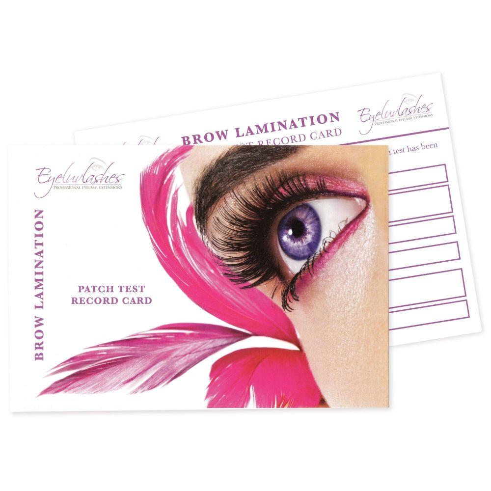 Patch Test Cards for Brow Lamination