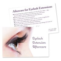 Client Aftercare Cards for Eyelash Extensions