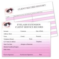 Client Record History Cards for Eyelash Extensions