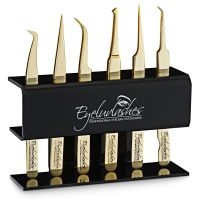 Tweezers Stand (Black Acrylic) - Holds 6 Tweezers