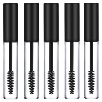 5 x Empty Mascara Tubes BLACK 10ml