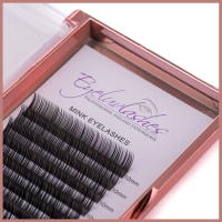 MINK Eyelash Extension Tray Eyeluvlashes (SET LENGTH) 12 Lines B CURL 0.03 x 12 - SALE - WAS £11.95