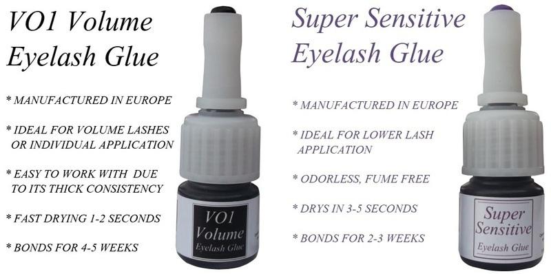 volume eyelash glue and lower lash glue