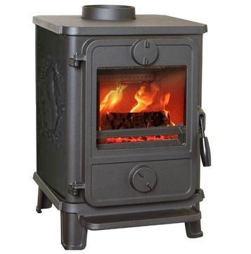 Morso Squirrel 1412 Multi Fuel Stove with Squirrel motif sides