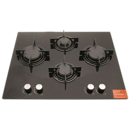 Culina 4 Burner Glass Gas Hob complete with jets for LPG Conversion.
