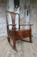 Figured elm chair