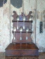 Oak spoon rack