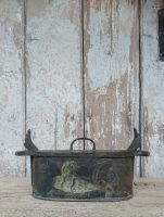 Painted bentwood storage box