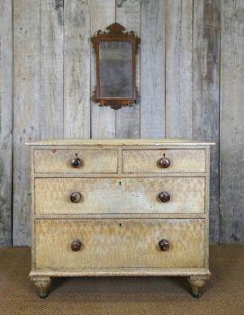 Georgian faux bois chest