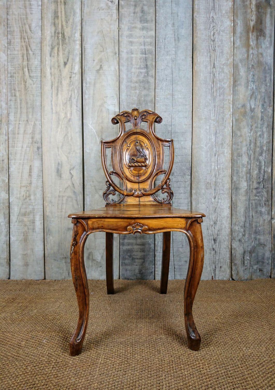 Armorial hall chair