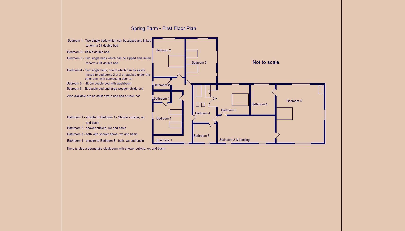 Spring Farm - first floor plan