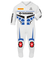 Motorcycle Baby grow babygrow Yamamma 2016 White Baby Race Suit