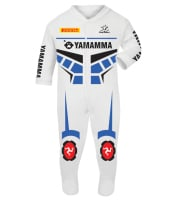 4-Motorcycle Baby grow babygrow Yamamma 2016 White Baby Race Suit