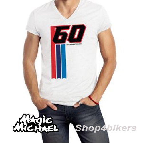 Michael van der Mark T shirt magic Michael WSBK Yamaha rider 2017 white