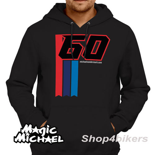 Michael van der Mark Hoodie hoody magic Michael WSBK Yamaha rider 2017 blac