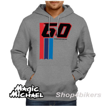 Michael van der Mark Hoodie hoody magic Michael WSBK Yamaha rider 2016 grey