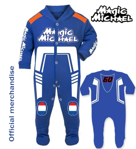 Motorcycle Baby grow babygrow race suit Michael van der Mark