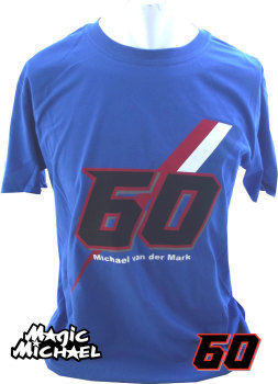 Michael van der Mark Official blue t shirt 2017 Yamaha PATA rider SBK