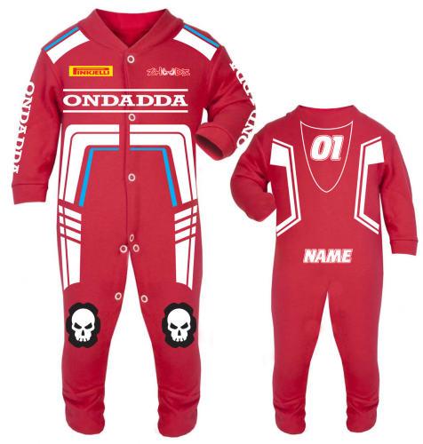 Motorcycle Baby grow babygrow Ondadda Red Baby Race Suit new 2017