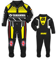 4-Motorcycle Baby grow babygrow Yamamma black Baby Race Suit new 2017