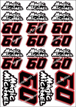 Michael van der Mark Official Magic Michael decal stickers sticker Yamaha PATA rider