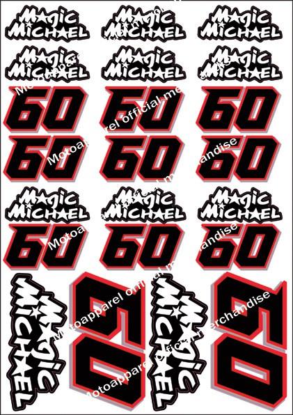 Michael van der Mark Official Magic Michael decal stickers sticker Yamaha P