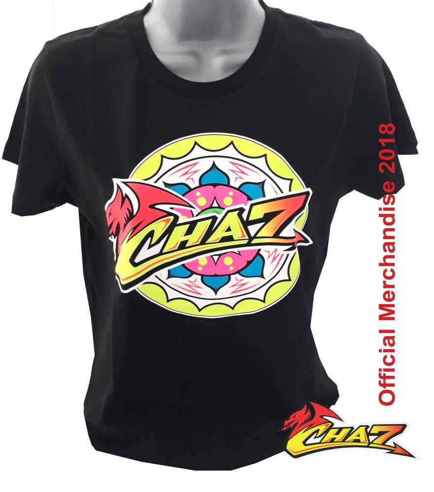 Chaz Davies 7 official women's t shirt black WSBK Aruba Ducati team rider 2