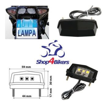 Motorcycle number plate SMD led light