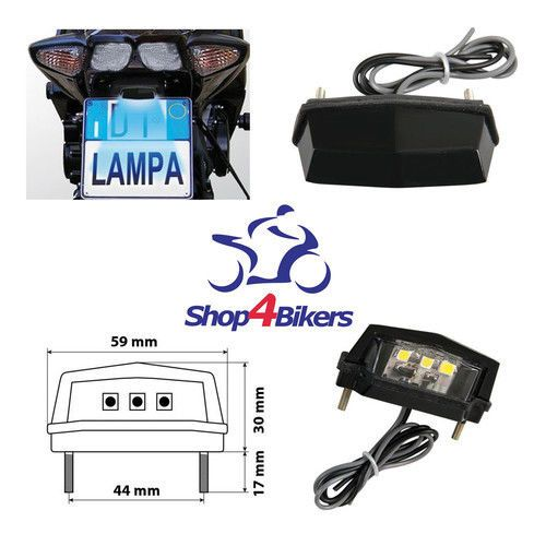 Motorcycle number plate light  LED SMD E marked
