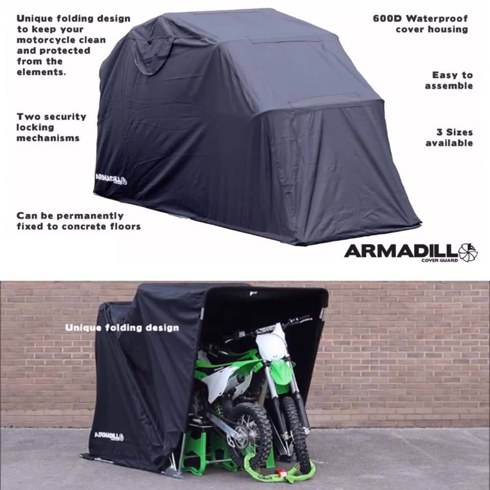 Waterproof motorcycle outdoor shelter cover