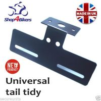 Universal tail tidy number plate holder for screw lights