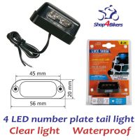 Motorcycle number plate led light