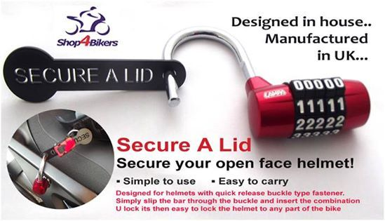 shop4bikers secure a lid helmet lock