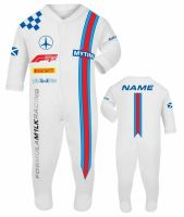 Car racing baby grow babygrow white