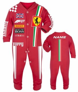Car racing baby grow babygrow red