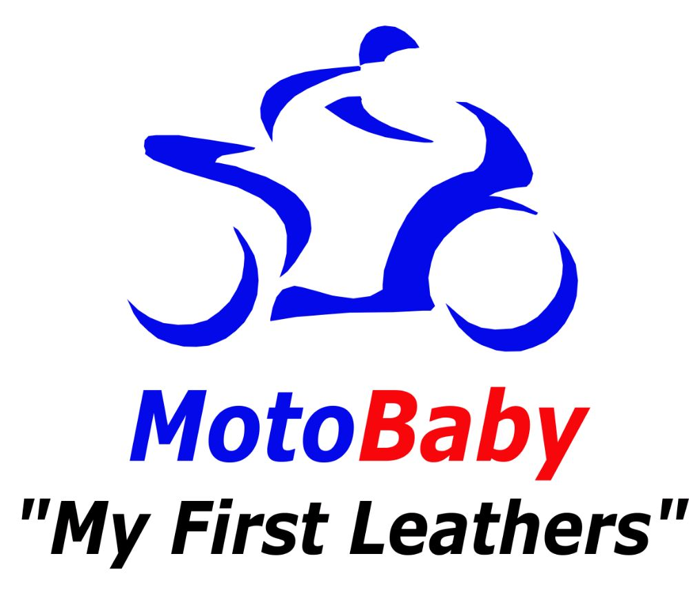 Motorcycle baby grows romper suit My First Leather