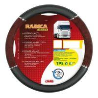 Truck lorry HGV Bus Coach steering wheel walnut effect delux wide grip