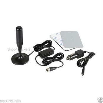 2) HGV motorhome car 12v 24v digital TV UHF aerial antenna booster with plug