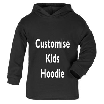 1- Personalised kids childrens black hoodie biker motorcycle present gift ideal