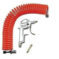 Truck lorry air dust gun airline with 5m long coil hose supplied & connector