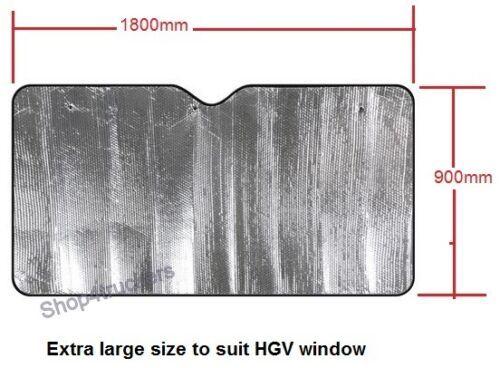 Truck HGV XXL motorhome windscreen sunshade silver 1800mm x 900mm
