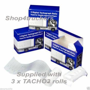 Truck lorry Digital tachograph 3 Rolls Digital Tachograph Tacho 3 superior paper