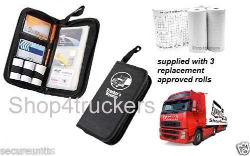 Truck HGV Tacho Digital tachograph organiser wallet & 1x box of rolls 3 rol