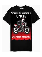 Never under estimate an Uncle who rides a motorcycle mens black tshirt t-shirt