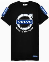 W - Volvo truck lorry king of the road black & blue tshirt