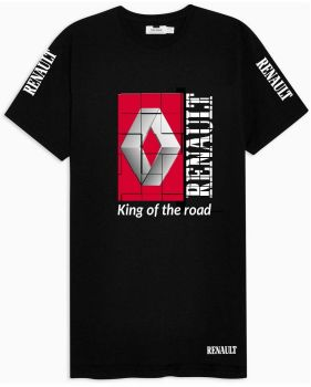 W - Renault truck lorry king of the road black & red tshirt