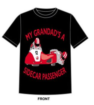 Q - My Grandad is a sidecar passenger motorcycle toddler baby childrens kids t-shirt 100% cotton