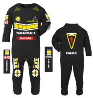 3-Motorcycle Baby grow babygrow romper suit Yamammaha black 100% cotton
