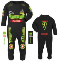 3-Motorcycle Baby grow babygrow romper suit Kwaka black Wiz Knee sliders