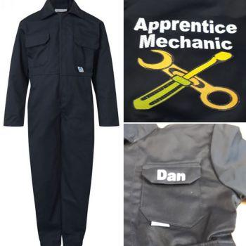 A - Motokids kids childrens boiler suit overalls coveralls apprentice mechanic